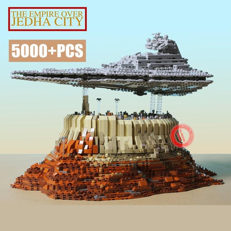 MOC destructor estrella de primer orden el imperio sobre Jedha Fit Legoings Star Wars MOC-18916 modelo bloques de construcción juguetes de cumpleaños