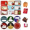 5Sheets Merry Christmas Gift Box Tag Sealing Stickers Handmade Packaging Label Sticker for Home Xmas New Year Decoration