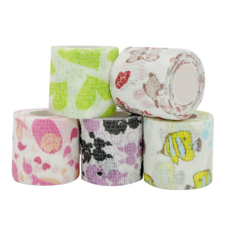 New Colorful Sport Self Adhesive Elastic Bandage Knee Support Pads 4.5m Wrist Ankle Protector Palm Shoulder Wrap Tape Bandage