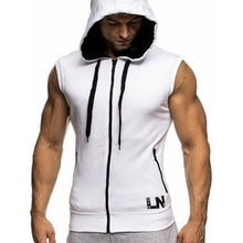 ZOGAA 2019 Fashion Brand Hoodie Men Sleeveless Sweatshirts Solid Color Causal Slim Fit Hooded Coat Mens Hoodies Clothing