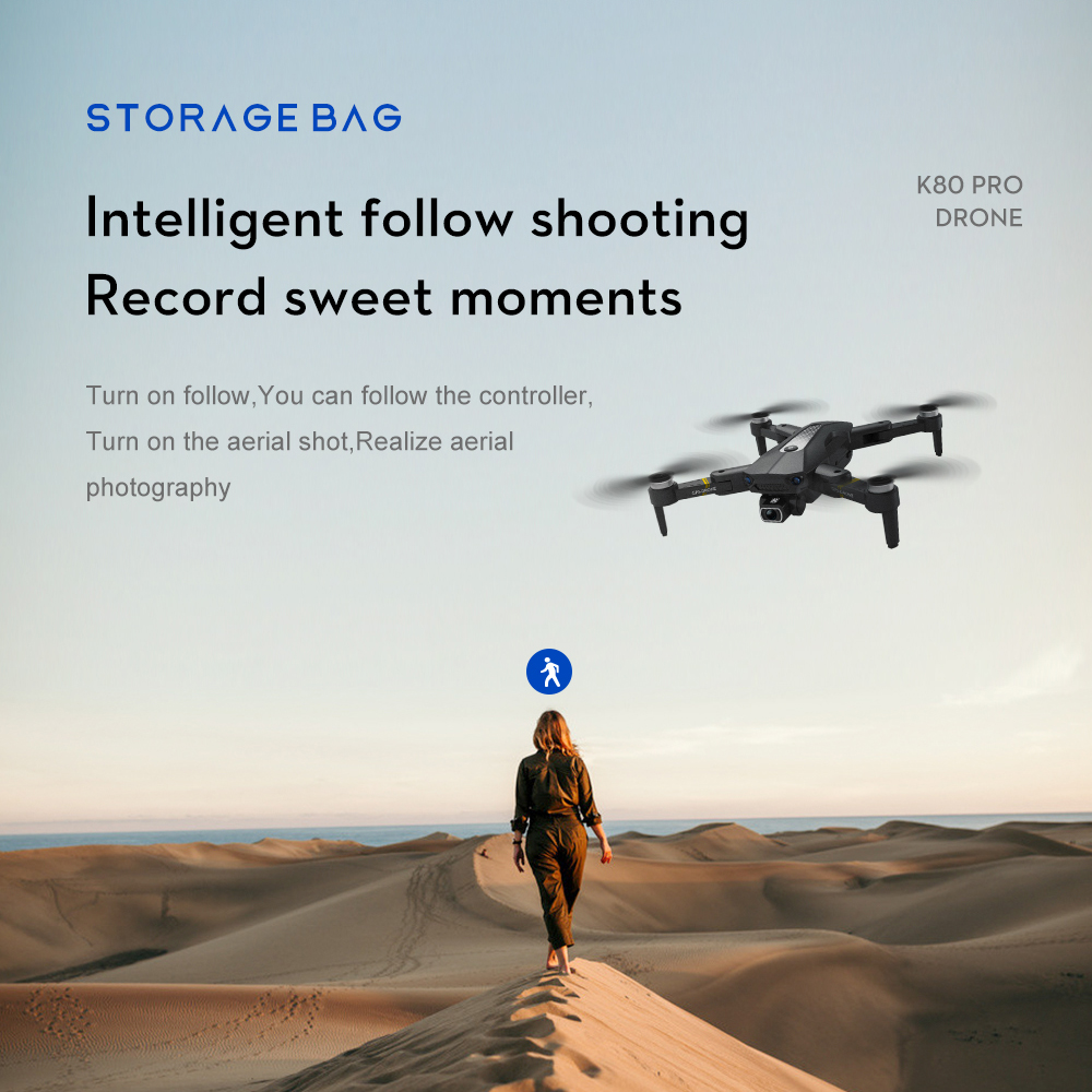K80 Pro GPS Drone 4K Professional HD Dual Camera Anti Shake Aerial Photography Brushless Foldable Quadcopter RC Distance 1200M 3