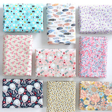 145x50cm Pastoral Floral Plain Cotton Fabric DIY Childrens Wear Cloth Make Bedding Quilt Decoration Home alibaba express