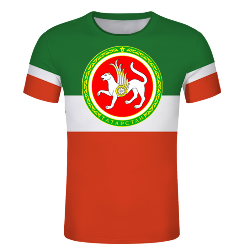 Tatarstan Bulgar Republic custom MEN t shirt Russian text diy TATAR hockey team sport t shirt Independent country flag T shirt