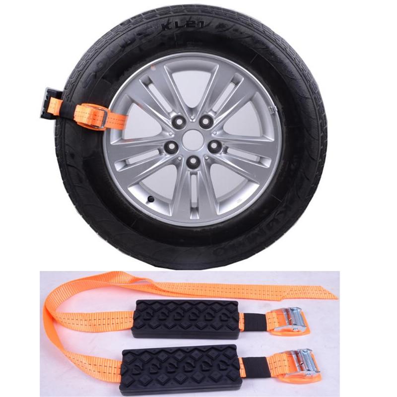 Courroie de chaîne de pneu neige/boue/sable chaîne anti-dérapant Automobile berline voiture/camions ceinture extérieure d'urgence