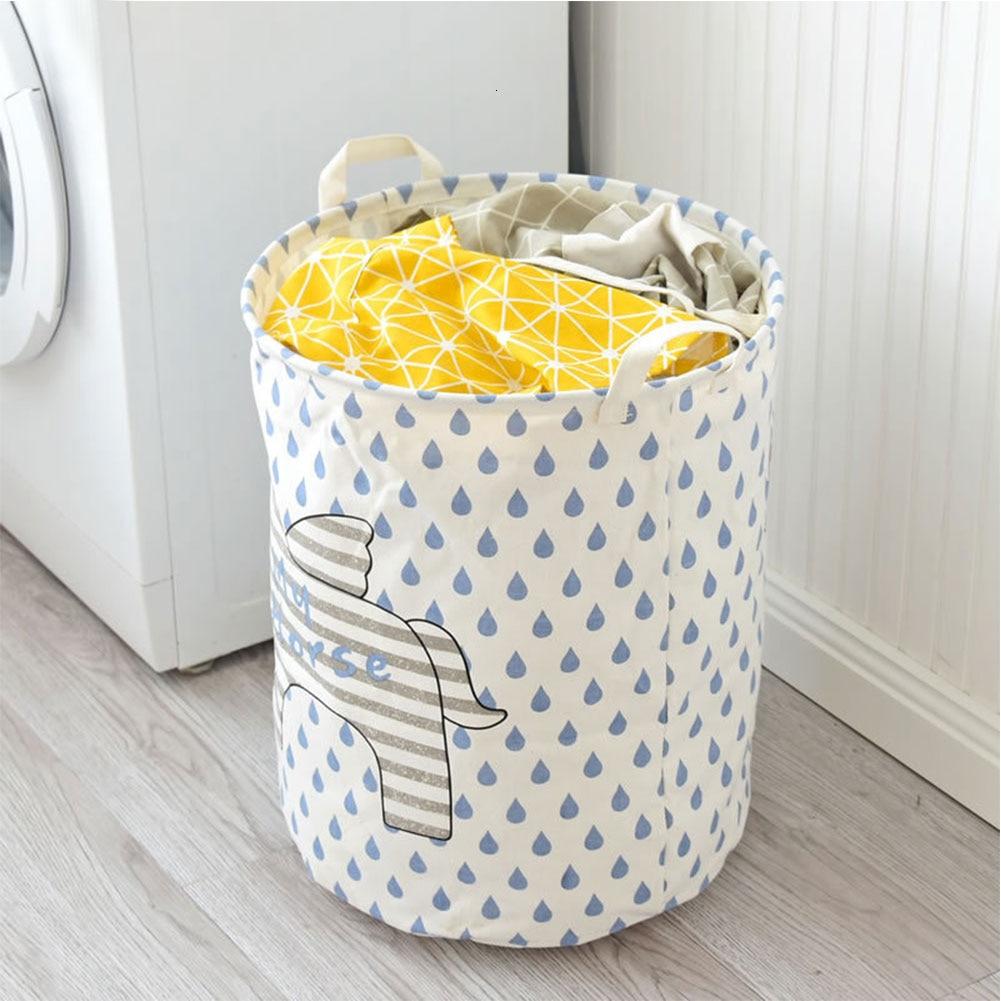 Laundry Washing Dirty Clothes Basket Bin Foldable Storage Bag Hamper Kids Toys