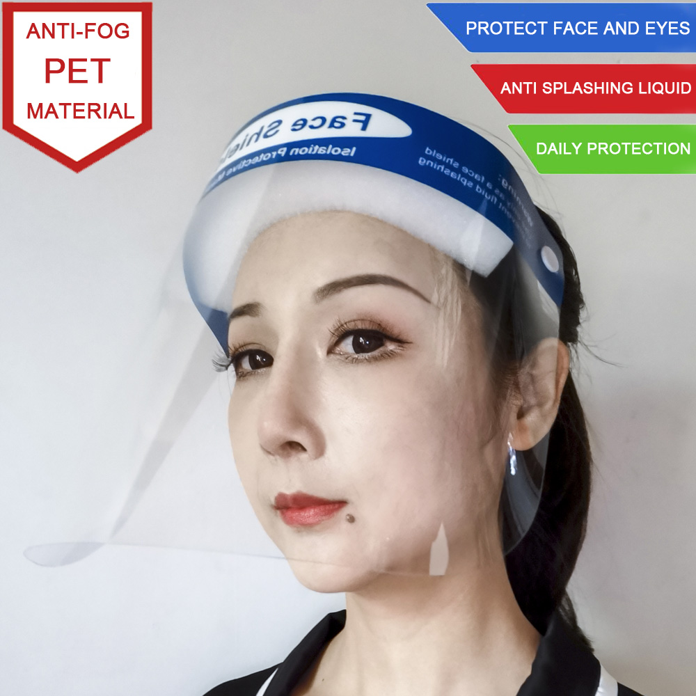 Clear Plastic Protective Face Shield Mask For Face Eyes Anti Fog Splash Proof Isolation Safety Full Face Shield Mask Protection