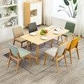 Мебель для дома в скандинавском стиле минималистичный стул для спальни из цельного дерева для офиса  ресторана  конференц-зала  кофе  отеля  ...