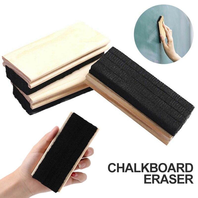 Radient Blackboard Whiteboard Wool Felt Eraser Pine Wood Chalkboard Duster Classroom Cleaner Kit School Office Sationery Supplies