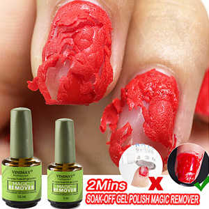 Healthy Fast Nail Remover Gel Magic Burst Polish Remover Gel Soak Off UV Gel Nail Cleaner Zero Damage Nail Polish Remover