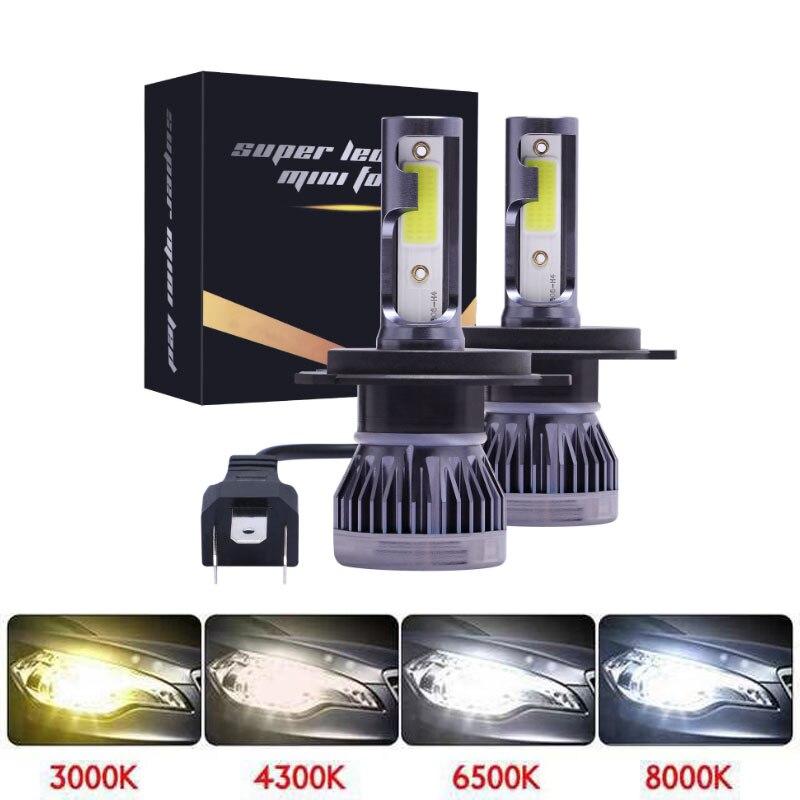 FACTEK 2 шт./пара мини-светодиод машины головной светильник лампы H1 H7 H8 H9 H11 фар комплект 9005 HB3 9006 HB4 лампы для передних автомобильных 4300 К 8000 12000LM