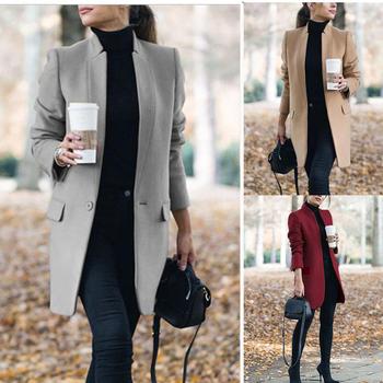 Tom Hagen zimowy płaszcz i kurtka kobiety Plus rozmiar długi płaszcz wełniany ciepły koreański elegancki płaszcz w stylu Vintage kobieta płaszcz Cape Khaki kurtka tanie i dobre opinie Pełna Na co dzień Poliester Przycisk Stałe C-C1073 Golfem Otwórz stitch Szczupła Solid Urban leisure Stitching Cardigan