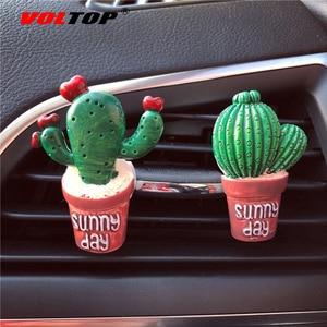Image 2 - Sukkulenten Kaktus Auto Dashboard Dekoration Air Outlet Parfüm Clip Ornamente Auto Zubehör Innen Hängenden Anhänger