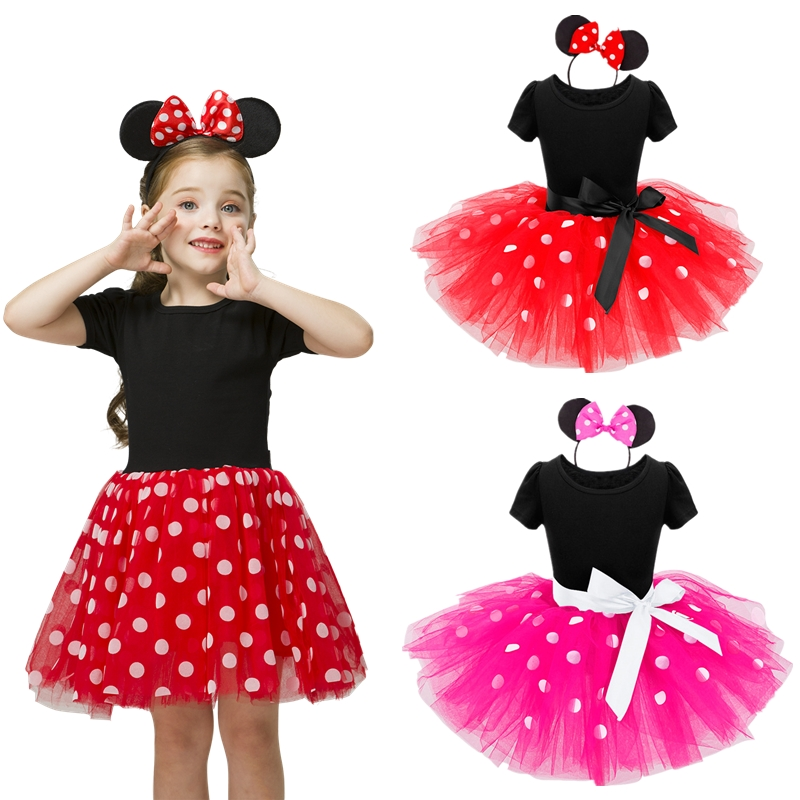 Baby Birthday Dress Girls Christmas Dress Baby Girl New Year Dress Up Clothes Birthday Party Polka Dots Casual Wear Vestidos 6