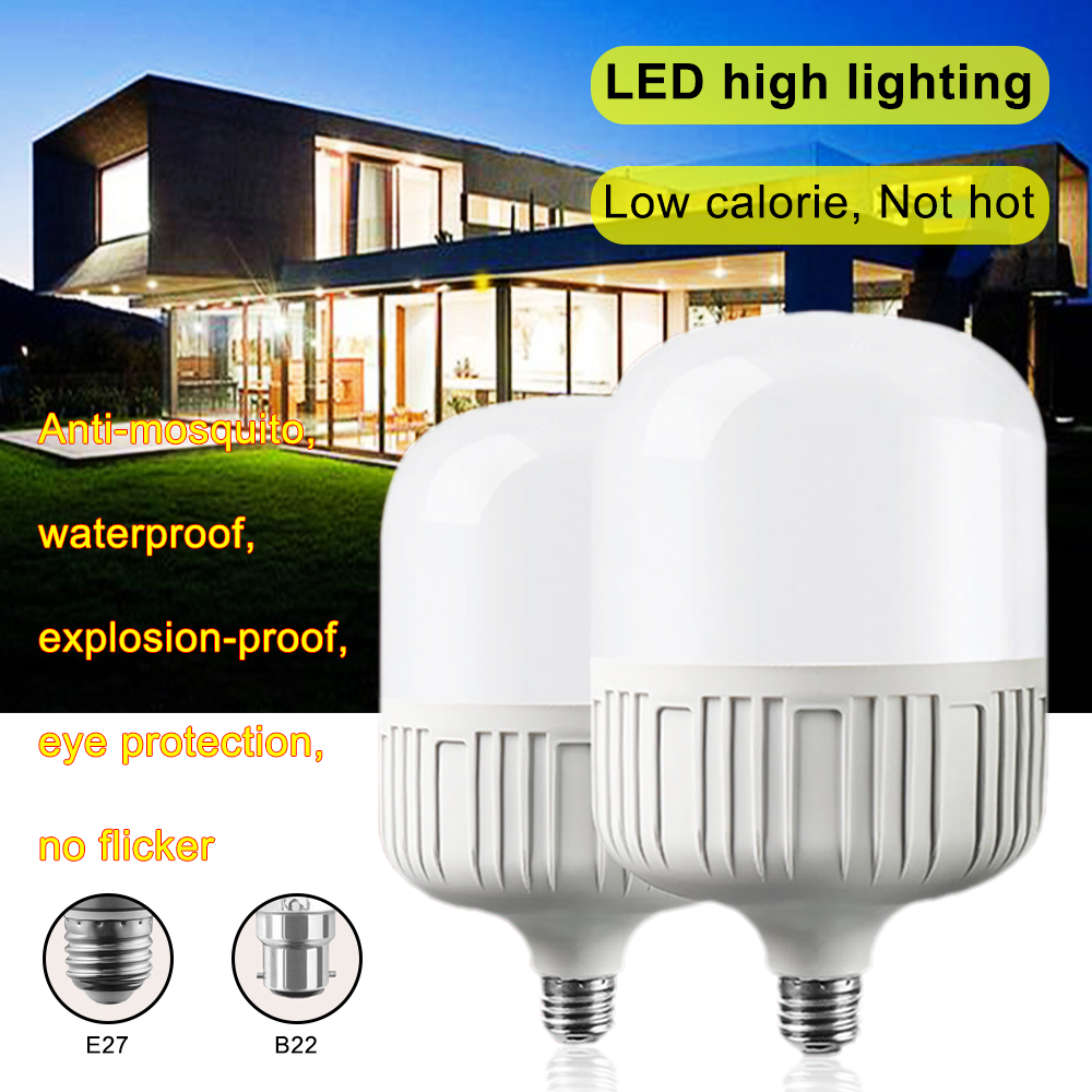 New LED Bulb E27 B22 Energy Saving LED Bulb Light Lamp 220V 5W - 100W Cool White / Warm Yellow Led Light Lamp
