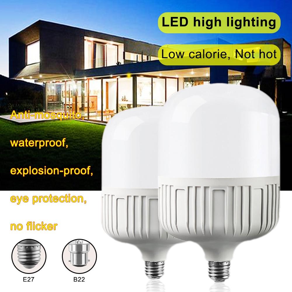 New LED Bulb E27 B22 Energy Saving LED Bulb Light Lamp 220V 5W - 100W Cool White / Warm Yellow Led Light Lamp