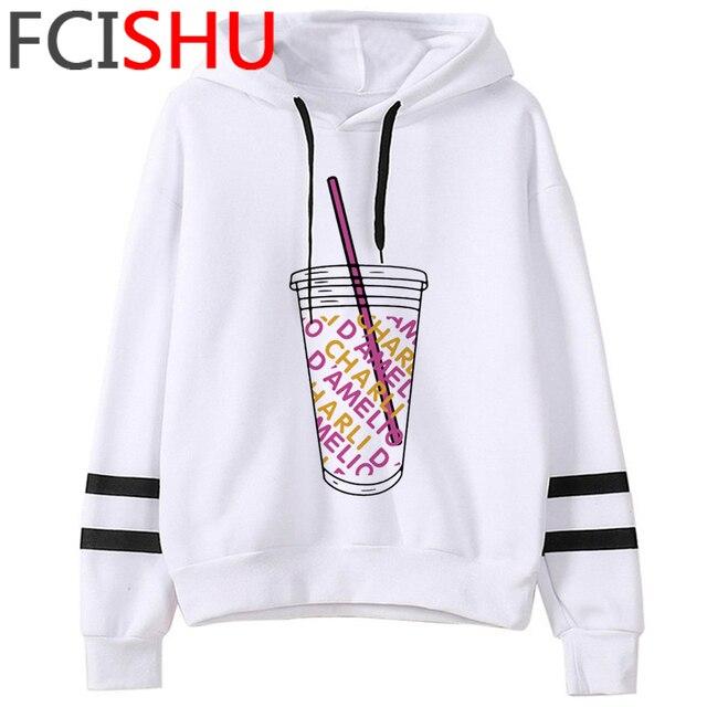 Fashion Charli Damelio Merch Ice Coffee Graphic Hoodies Women Harajuku Ullzang Funny Cartoon Sweatshirt Wimter Warm Hoody Female 3
