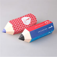 Caja de regalo con forma de lápiz de la PC para niños, contenedor de almacenamiento de dulces para regalo de Año Nuevo (sin cinta/pegatina), 10 unidades