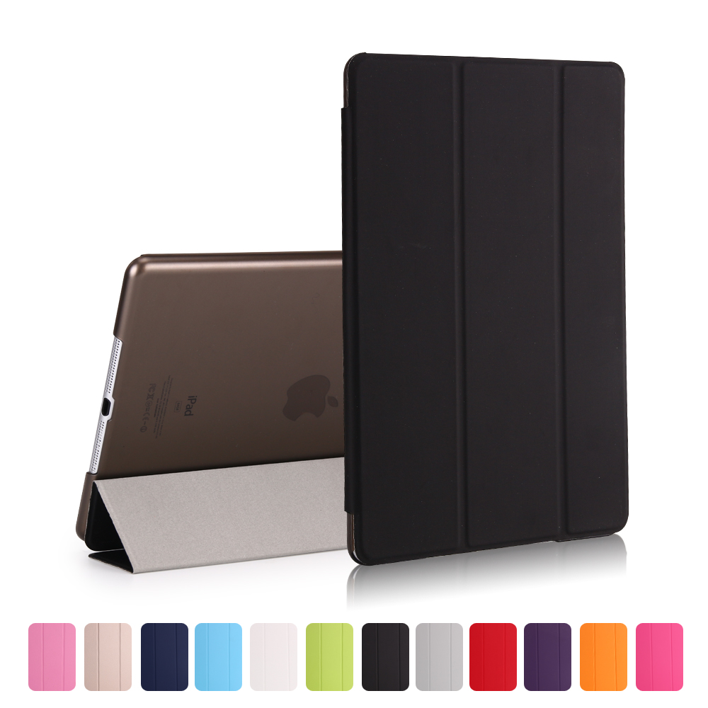 New Case For iPad 9.7 2017 2018 6th generation Cover Air 3 2 1 Pro 10.5 Transparent shell Smart sleep wake up PU Leather Cover