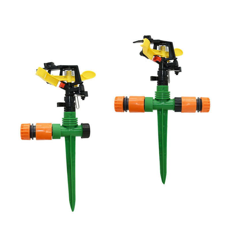 Garden Rotating Nozzles With Nozzle Holder Rocker Sprinkler Adjustable Angle Water Nozzles Irrigation Lawn 1PCS