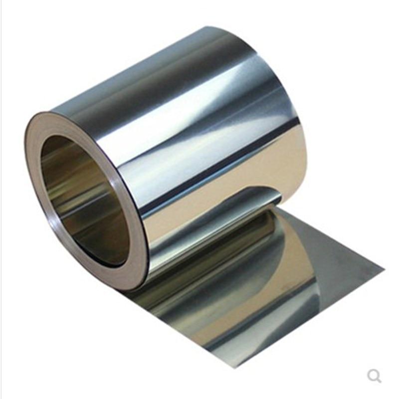Folha de chapa fina de aço inoxidável 0.2mm x 1m da prata 304mm da espessura de 1pc 100mm para o equipamento eletrônico