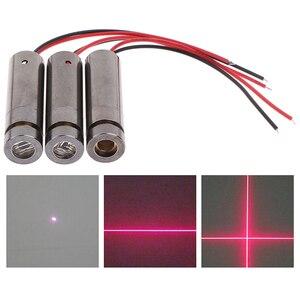 1 шт. 650 нм 5 МВт красная точка/линия/Крест лазерный модуль головка стеклянный объектив Фокусируемый промышленный класс