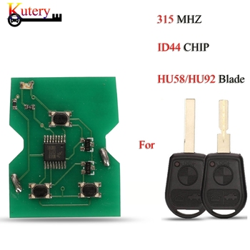 Kutery Remote Car Key For BMW E31 E32 E34 E36 E38 E39 E46 Z3 ID44 Chip 315MHZ 3 Buttons With Uncut HU58/HU92 Blade image