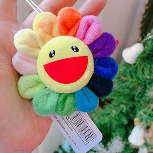 Новый бренд цветок Такаши Мураками Кики Kaikai брошь Радуга Подсолнух булавки ремень со значком плюшевые милые игрушки