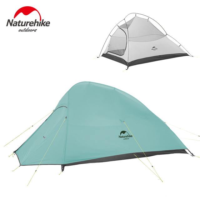 Naturehike New 2 Person Ultralight Professional Camping Tent 20D Silicone Windproof Outdoor Hiking Backpacking Tent Free Mat 3