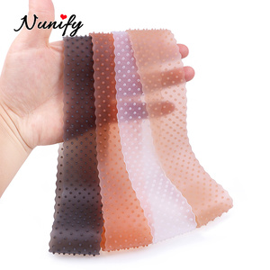 Nunify, transparente, antideslizante, ajustable, fina Peluca de silicona, banda de sujeción de Peluca de encaje transparente, banda elástica para estilismo del cabello de salón
