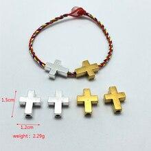 10шт крест ислам Вера подключение перфорированные бусины для изготовления ювелирных изделий DIY ручной ожерелье браслет аксессуары