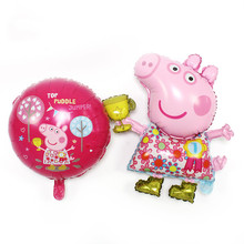 Cartoon champion Paige pig aluminum membrane balloon children birthday party decorating shop decoration activities Zhu Peiqi(China)