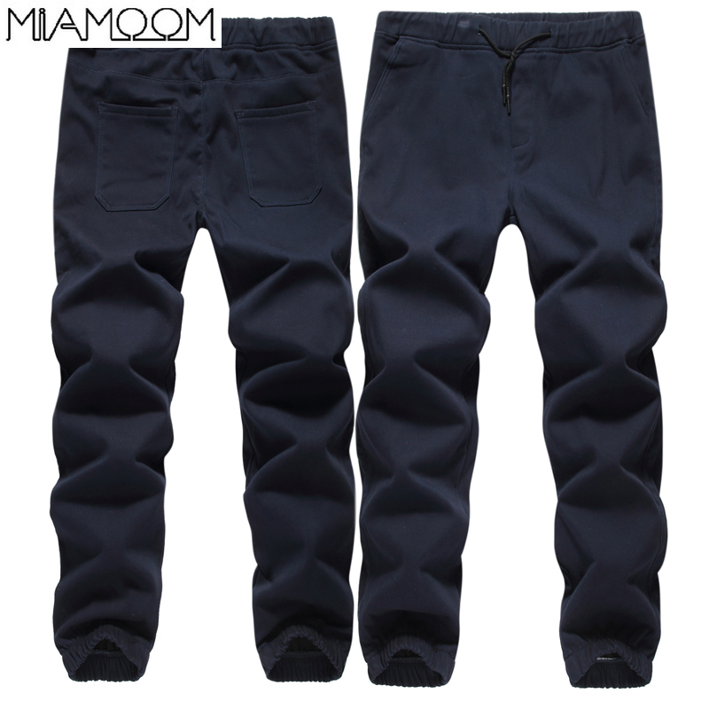 Pants Men Autumn And Winter Fleece And Thickening Casual Pants Hip-hop Loose Sport Large Size Cargo Pants