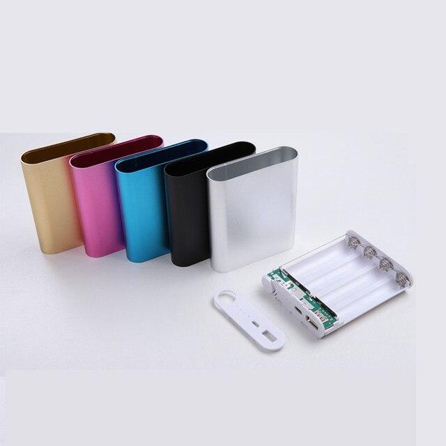 5 צבעים מתכת בנק כוח DIY ערכת אחסון מקרה תיבת משלוח ריתוך חליפת 4X 18650 סוללה 5V 2.1A USB חיצוני מטען חכם טלפון
