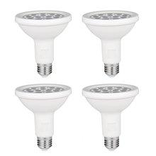 ICOCO 4 шт. PAR30 12 светодиодный 12 Вт с регулируемой яркостью и длинным горлом 1000 лм 3000 К теплый белый прожектор светодиодный двухвалентный для 75 Вт галогенная лампа