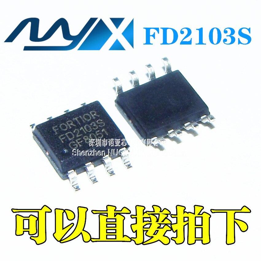 10pcs/lot Brand New Original FD2103 FD2103S SOP-8 180V Half Bridge Gate Driver Chip