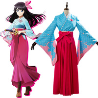 Animation New SakuraWars Sakura Amamiya Cosplay Costume Halloween Carnival Party Full Set