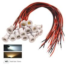 10pcs 1W DC12V IP65 Mini LED Spot light Thumb Spotlight Lamp Cabinet Ambient Lighting