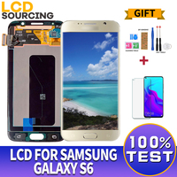 ORIGINAL 5.1 For Samsung GALAXY S6 LCD Display SM G920F G920F G920FD Touch Screen Digitizer Assembly for Samsung S6 LCD Replace