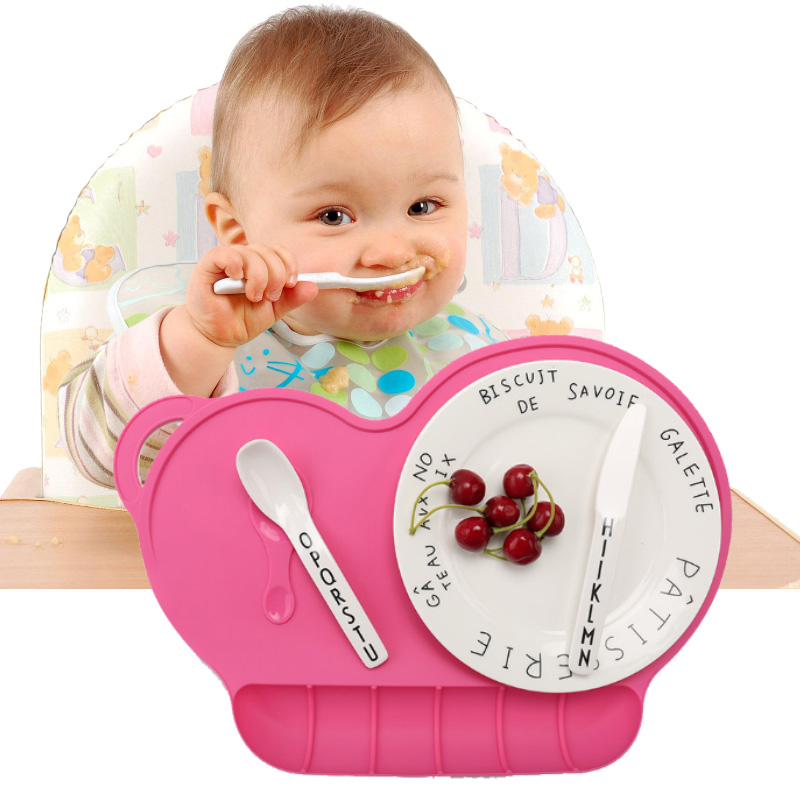 Kids Baby Silicone Placemat Sucker Slip-resistant Waterproof Snack Mat Kid Dinner Table Feeding Food Plate Tray Dish FJ8