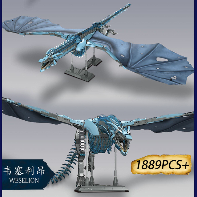 Movie Winterfell Castle Dragon Viserion Mother Black Death Balerion Anime Action Figures Building Blocks Toys 2