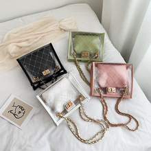 Mealivos Fashion Women Brand Mini Small Shoulder Bag Clear Transparent Drawstring Girls Cute Composite Female Handbags