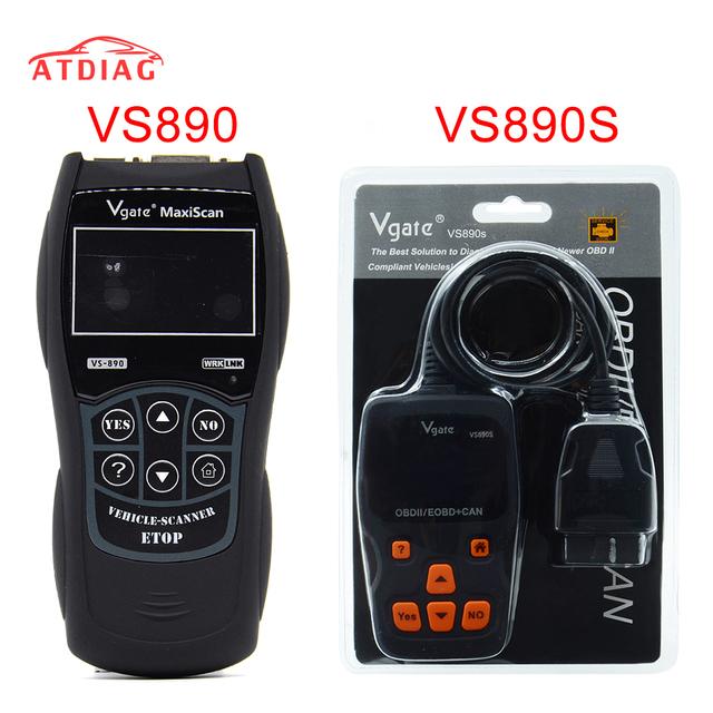 Newly Vgate VS890 OBD2 Scanner VS-890 OBDII Code Reader Support OBD OBDII CAN Protocols 13 Languages Better ELM327 AD310