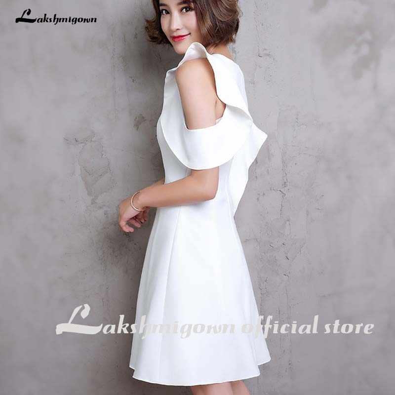 Sexy vestido de casamento curto branco 2020 vestidos de casamento com zíper praia mini comprimento baixo preço vestidos de noiva femininos