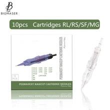 Biomaser 10PCS Tattoo Needles Permanent Makeup Catridges Needle For Tattoo Rotary Machine Kit Eyebrow Needle 1R,2R,3RL,5RL 3RS