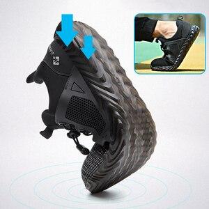 Image 3 - Ryder zapatos indestructibles con punta de acero para hombre y mujer, botas de seguridad antiperforación, transpirables, para trabajo