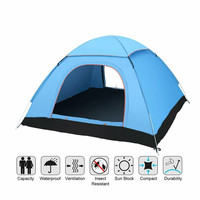 3 4 Person Camping Tent Automatic Pop Up Tents Outdoor Family Camping Tents Easy Open Camp Tent Ultralight Instant Shade Tents
