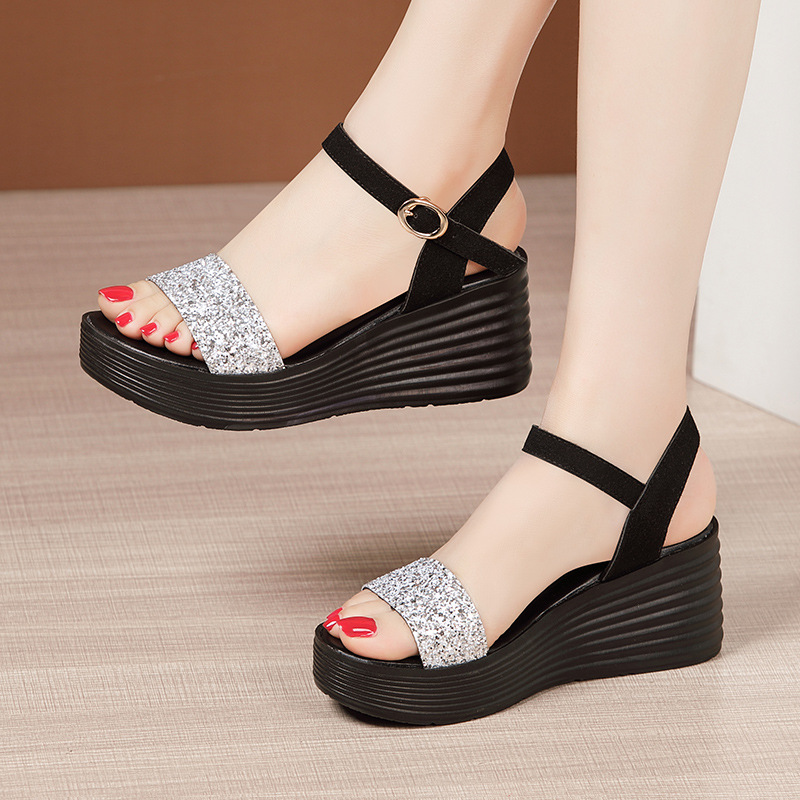 cunha feminina salto alto moda strass vestido sapatos 32-43