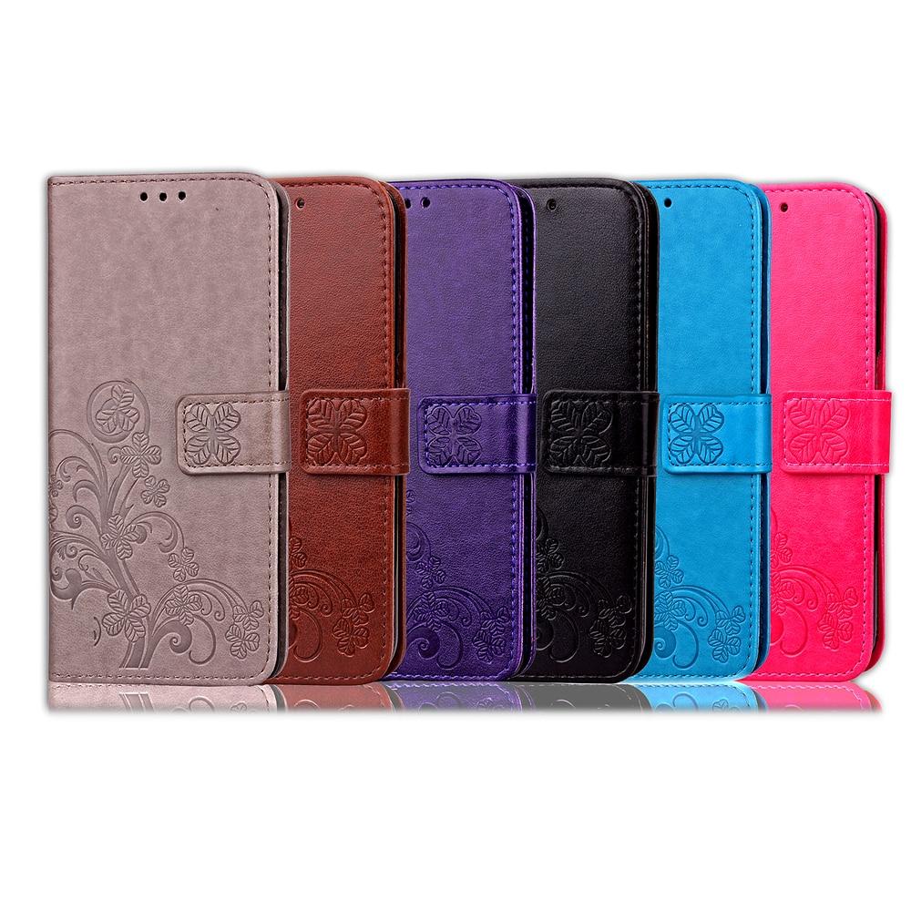 Flip Wallet Case For Samsung S9 Plus Case S10 Plus S9 S8 S7 S6 Edge S5 S4 S3 mini PU Leather Phone Case For Samsung 3D Clover