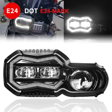 E24 mark مصابيح الأمامية للدراجة النارية ل BMW F 650 700 800 GS f800R f800gs مغامرة جهاز عرض (بروجكتور) ليد مجموعة مصابيح أمامية مع مرحبا/لو شعاع
