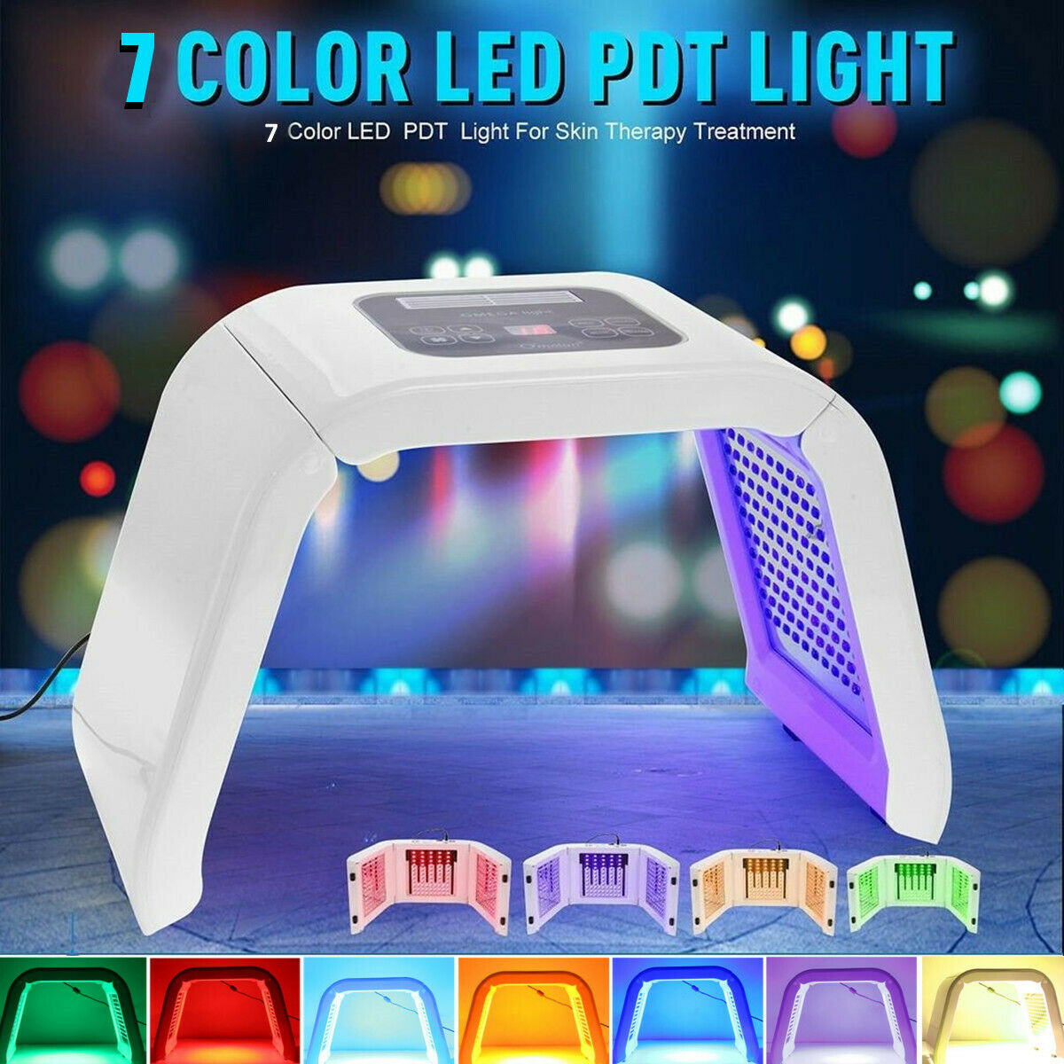 7 Colors LED Light Photodynamic Facial Skin Care Body Relaxation Therapy Device Multifunctional Beauty Instrument Home Use